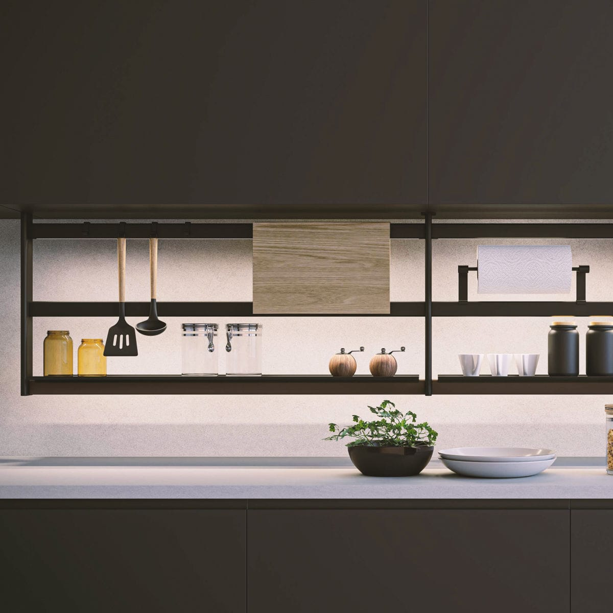 Wall Mounted Shelf Hang Lux Damiano Latini Srl Contemporary Metal For Kitchens