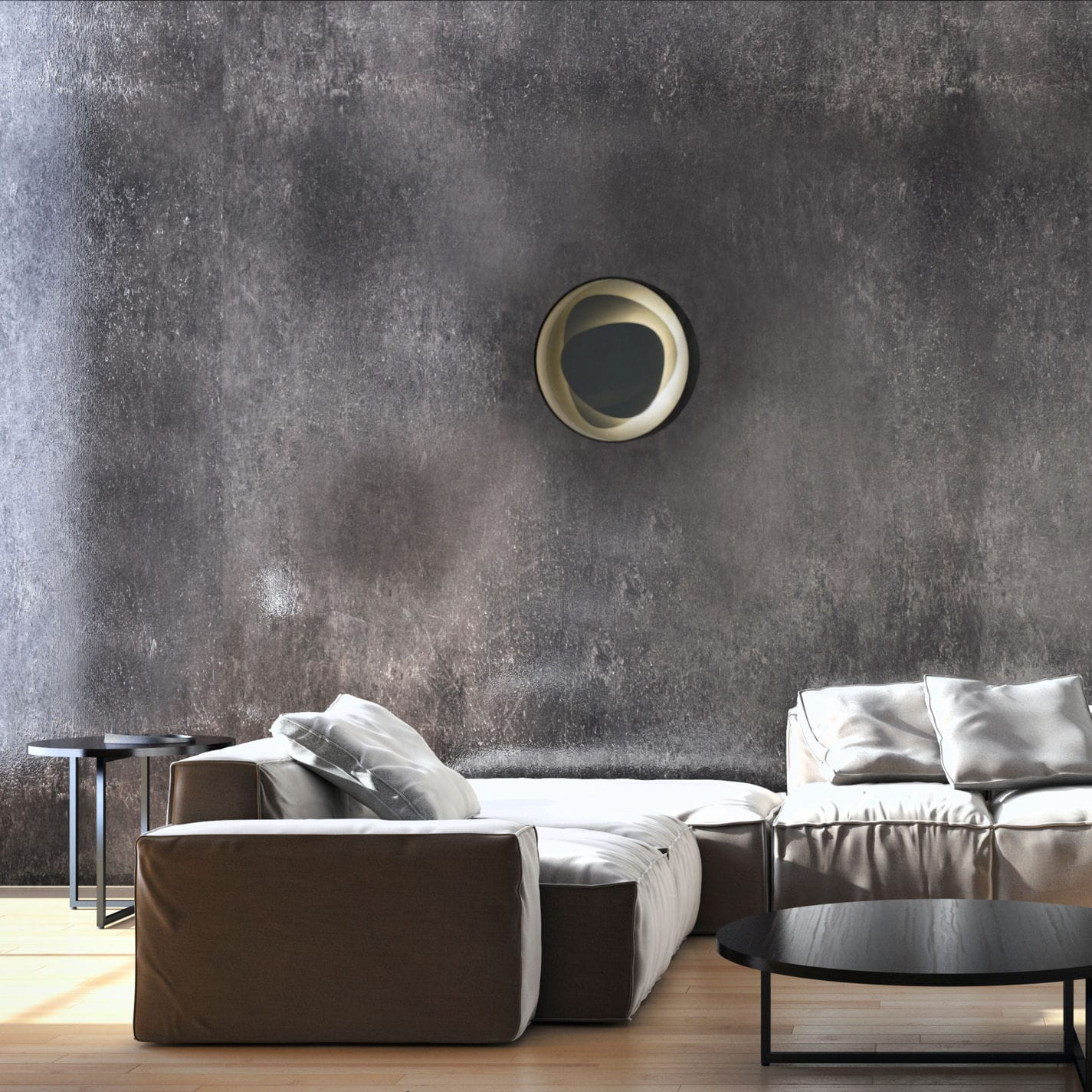 Contemporary Wall Light Brume Metropolight Living Room Copper Alloy