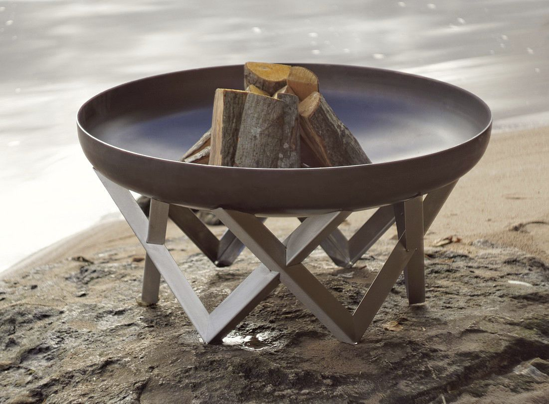 Wood Burning Fire Pit Vingis Curonian Stainless Steel
