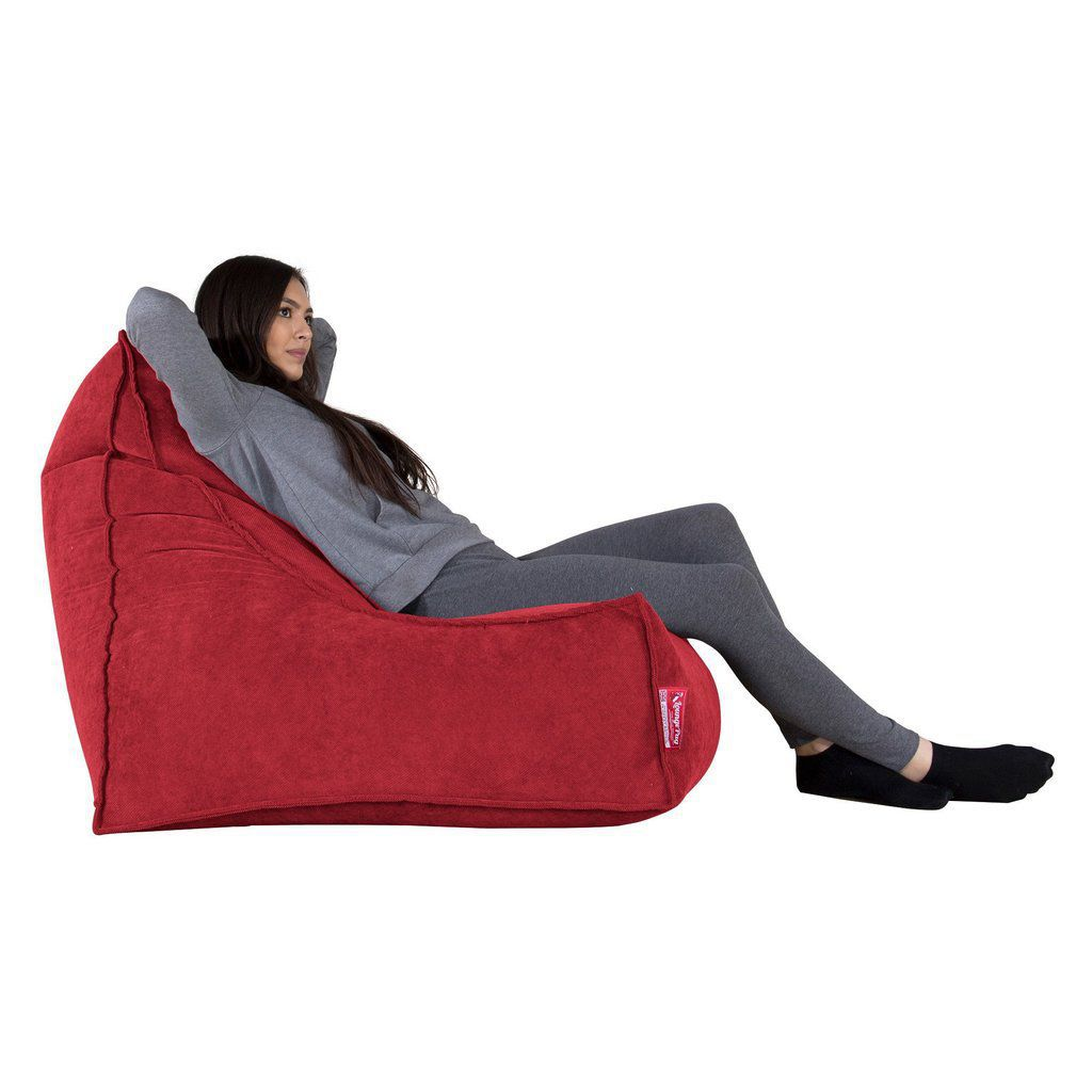 Fantastic Contemporary Bean Bag Fabric Red Lploungbbflkred Caraccident5 Cool Chair Designs And Ideas Caraccident5Info