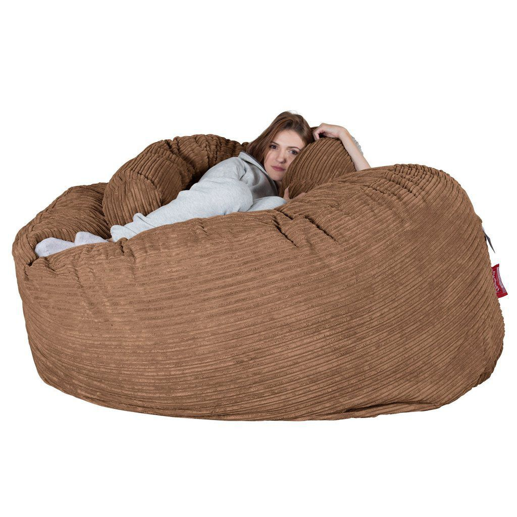 Awe Inspiring Contemporary Bean Bag Fabric Double Brown Ccrcc1Lsa Caraccident5 Cool Chair Designs And Ideas Caraccident5Info