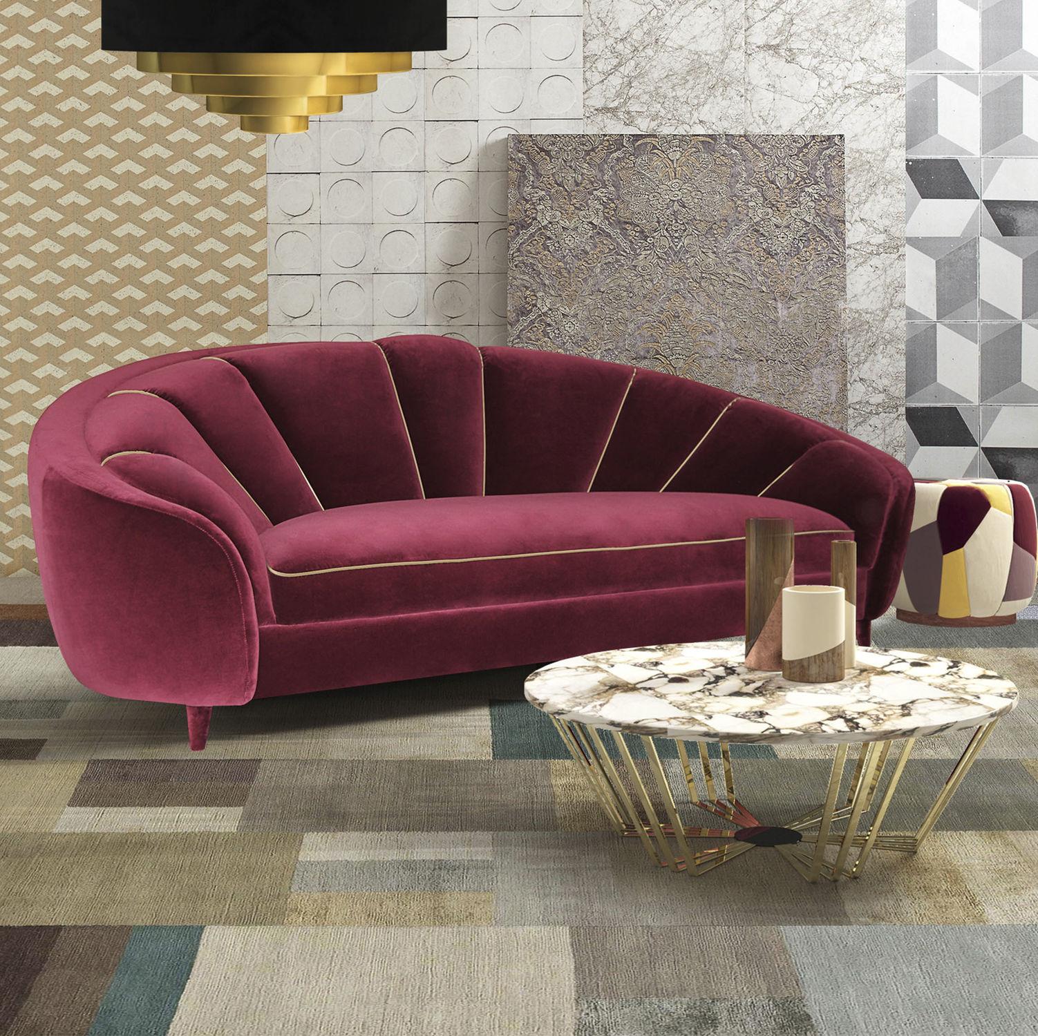 Art Deco sofa - RUBY - Muranti - velvet / cotton / 3-seater