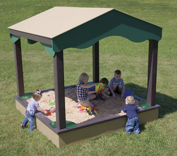 Playground Sandbox Sand House Nature Of Early Play