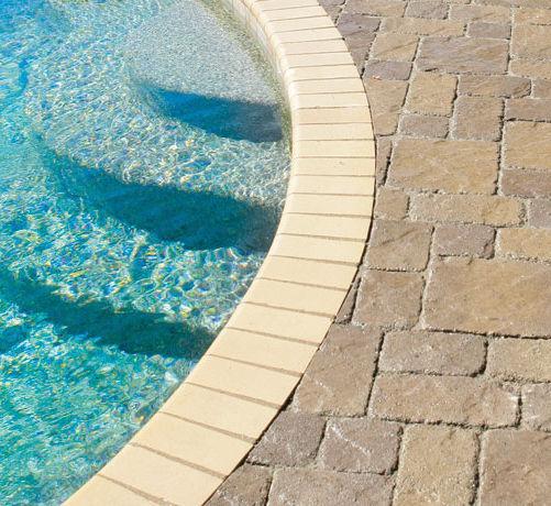 Concrete swimming pool coping - PAVESTONE