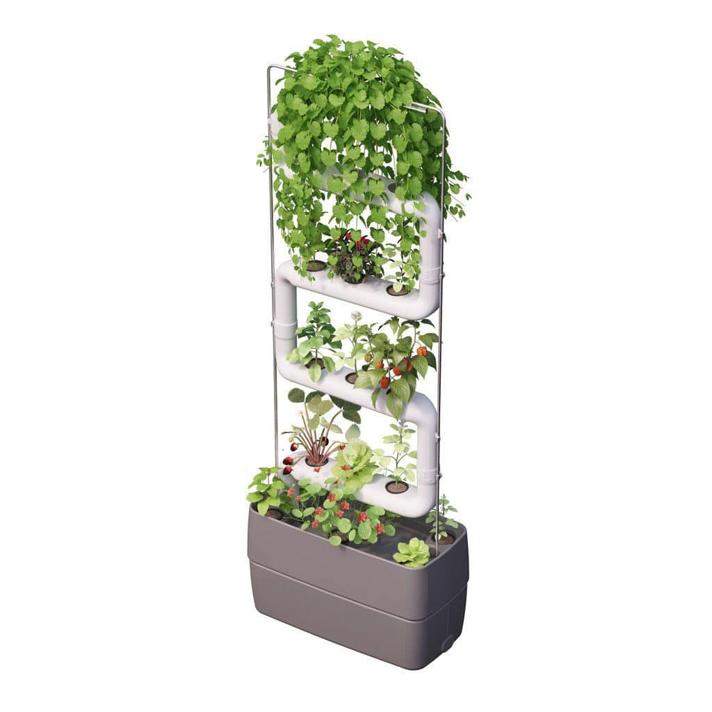 Mur Vegetal En Kit green wall system kit - eu dark grey - supragarden