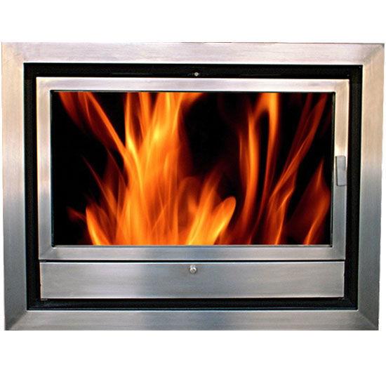 Wood Burning Fireplace Insert Hs 80 Stainless Steel Chimeneas