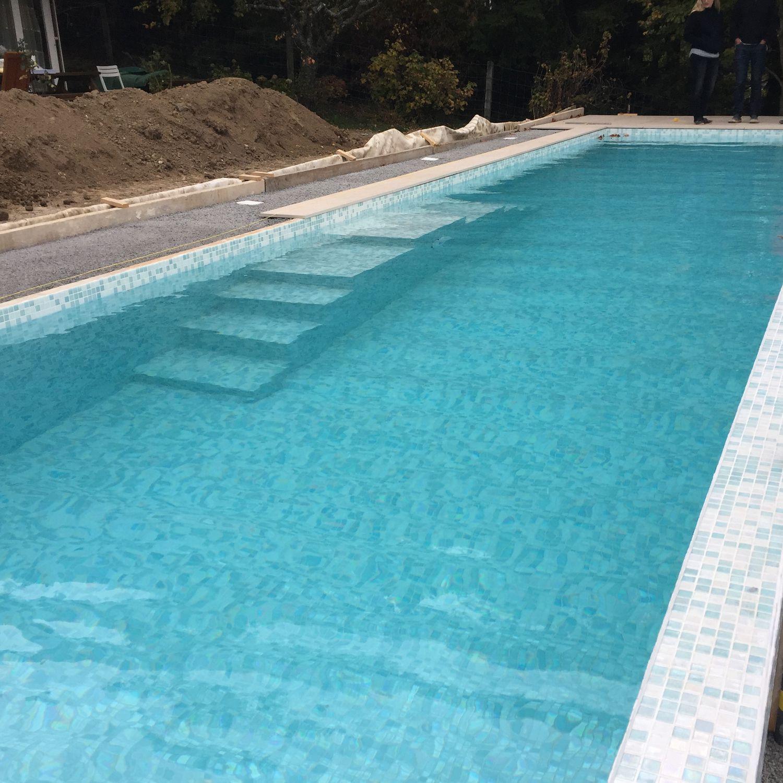 Semi Inground Swimming Pool Custom 15