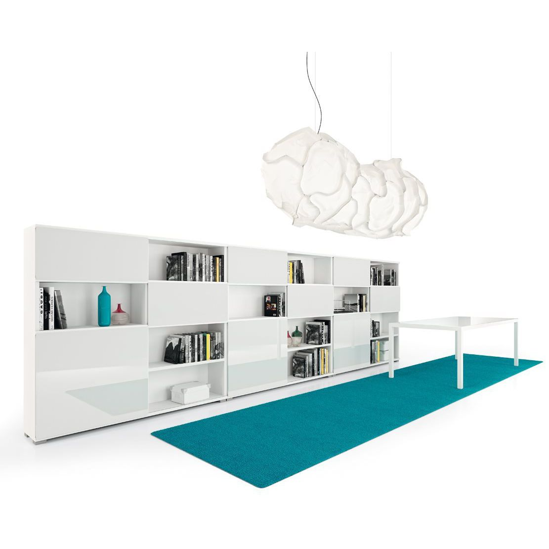 Contemporary Bookcase Commercial Glass Melamine