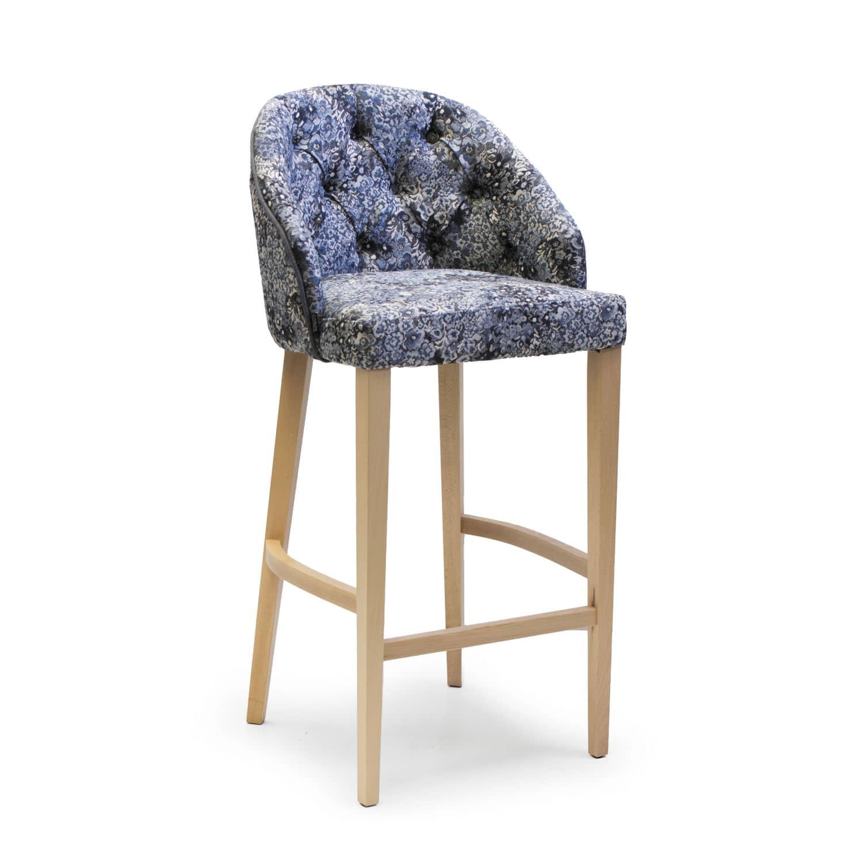 Cool Contemporary Bar Stool Fabric Beech Contract Maya Evergreenethics Interior Chair Design Evergreenethicsorg