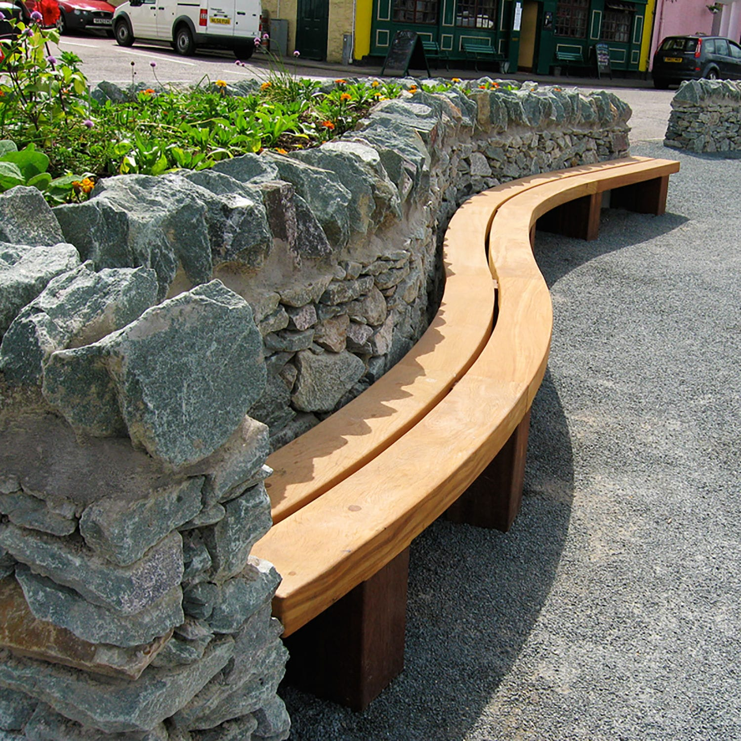Miraculous Public Bench Contemporary Wooden Wall Mounted Type 4 Onthecornerstone Fun Painted Chair Ideas Images Onthecornerstoneorg