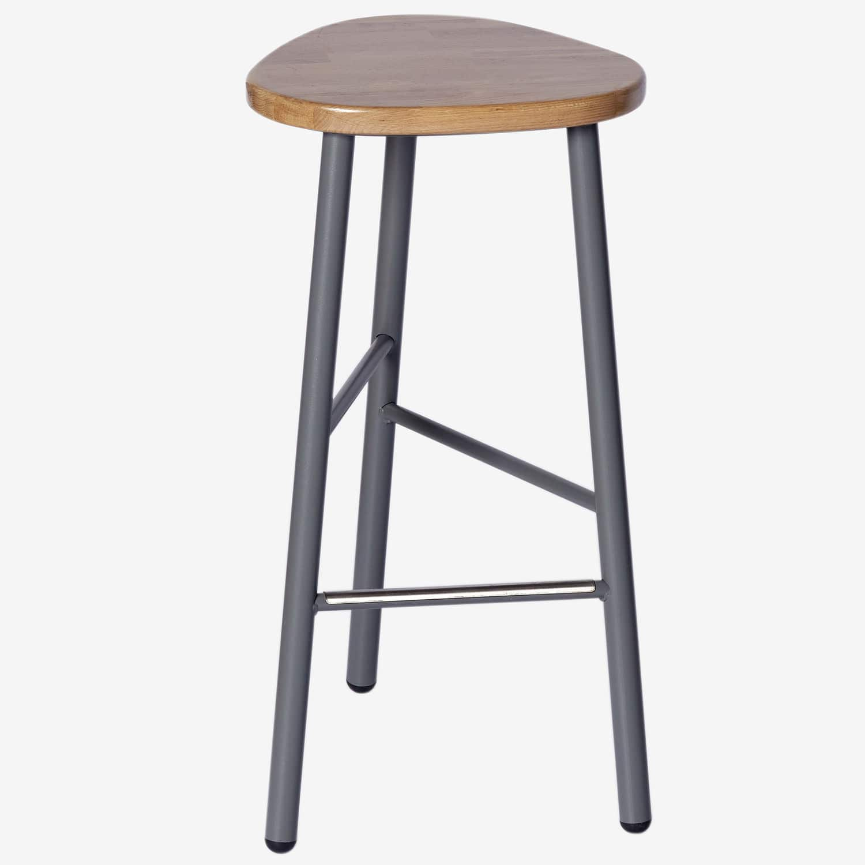 Brilliant Contemporary Bar Stool Powder Coated Steel Molded Machost Co Dining Chair Design Ideas Machostcouk