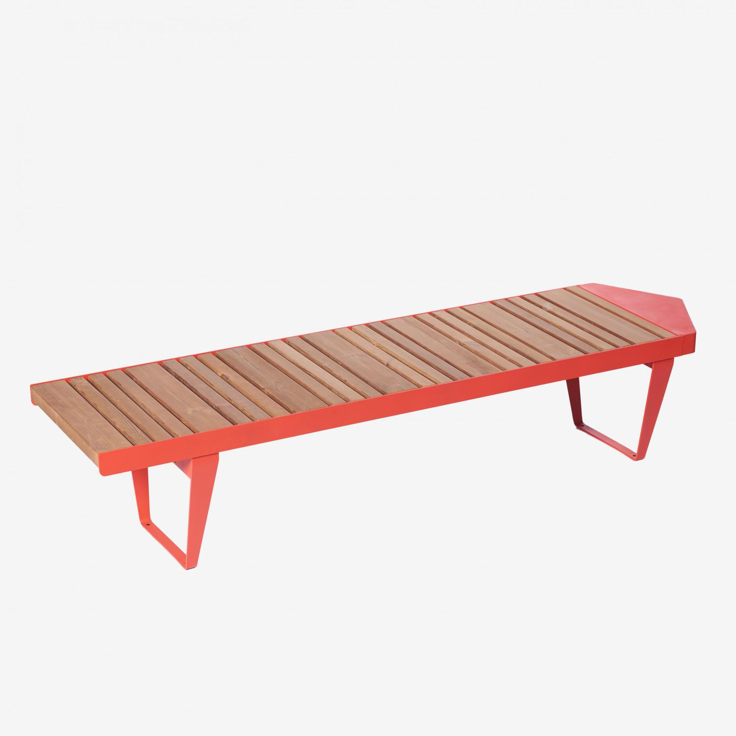 Awe Inspiring Public Bench Contemporary Galvanized Steel Powder Ocoug Best Dining Table And Chair Ideas Images Ocougorg