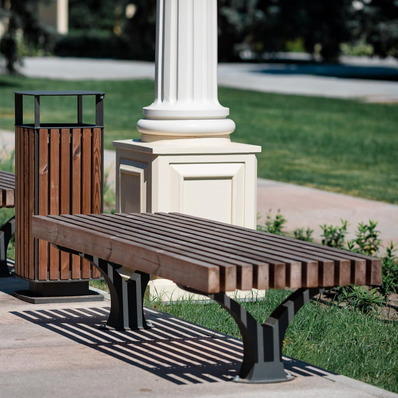 Swell Public Bench Contemporary Galvanized Steel Powder Ocoug Best Dining Table And Chair Ideas Images Ocougorg