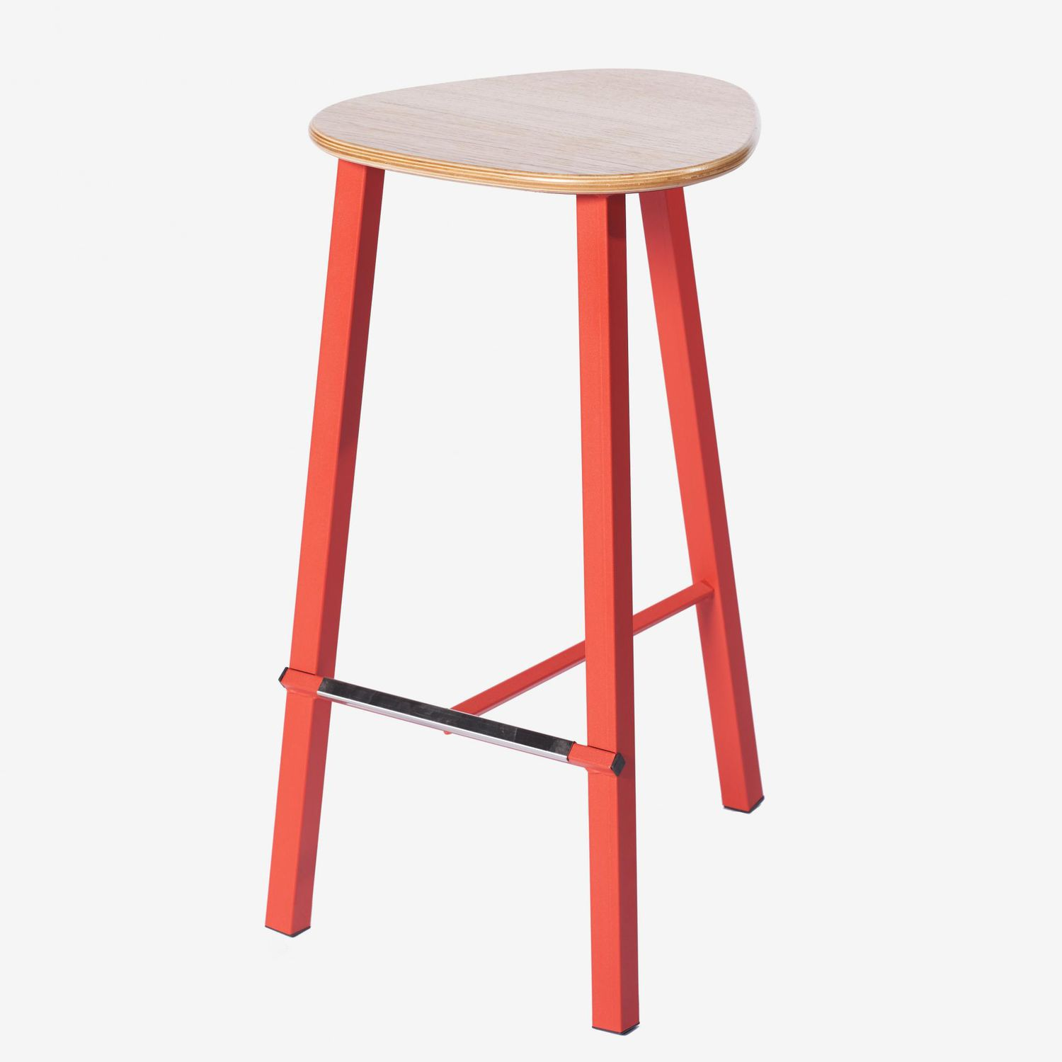 Stupendous Contemporary Bar Stool Powder Coated Steel Molded Beatyapartments Chair Design Images Beatyapartmentscom