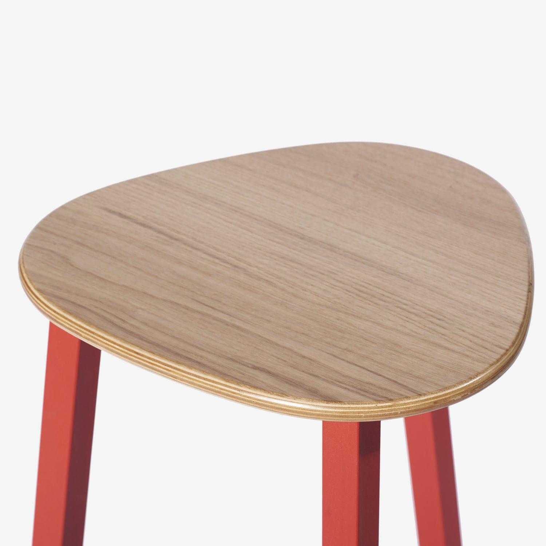 Fantastic Contemporary Bar Stool Powder Coated Steel Molded Beatyapartments Chair Design Images Beatyapartmentscom