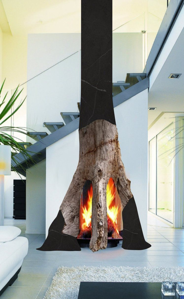Wood Burning Fireplace Metaplace 2 Metaplace Industries Original Design Open Hearth Free Standing