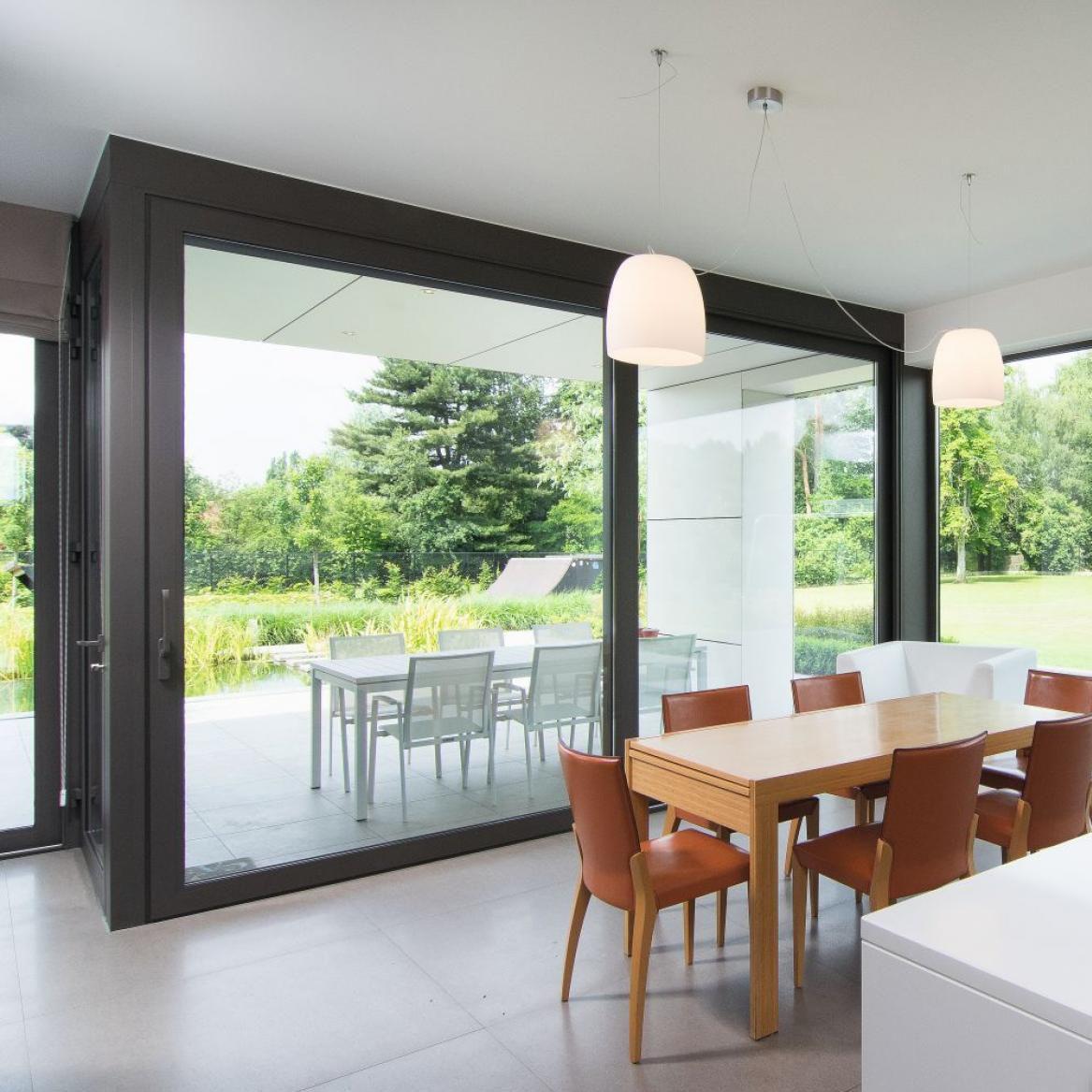 cheap for discount 6330b 2b6fb Sliding patio door / aluminum / triple-glazed / thermally ...