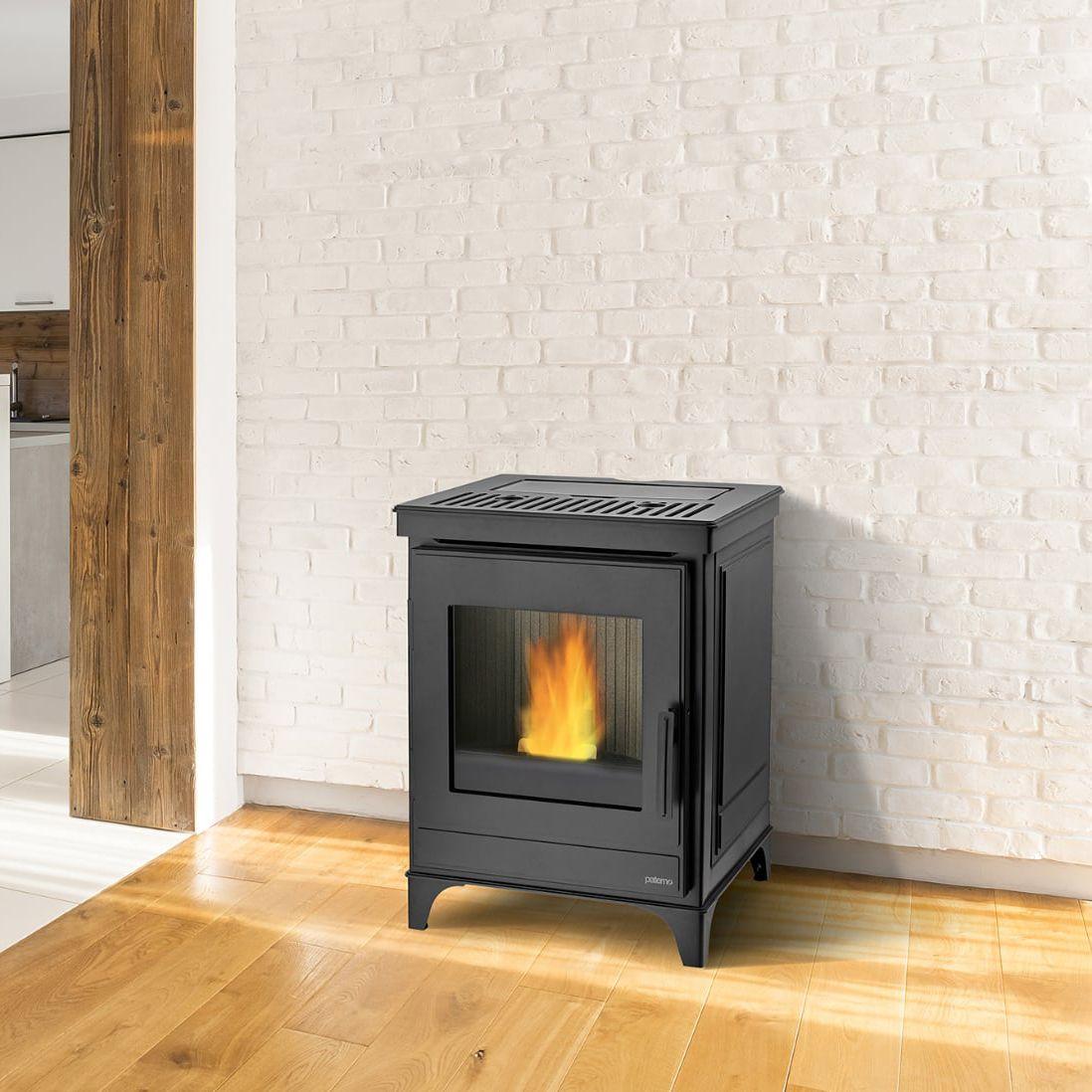 Stufe A Pellet Cassino pellet heating stove - p14 - paterno - steel / cast iron