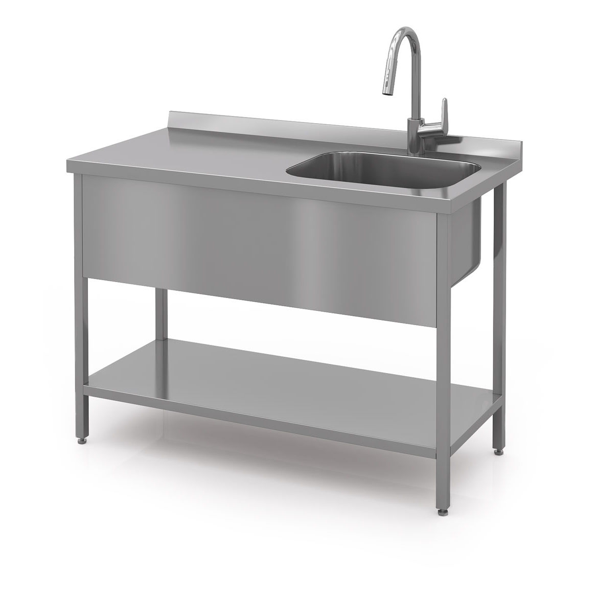 Stainless Steel Prep Table Modern Expo With Sink Commercial