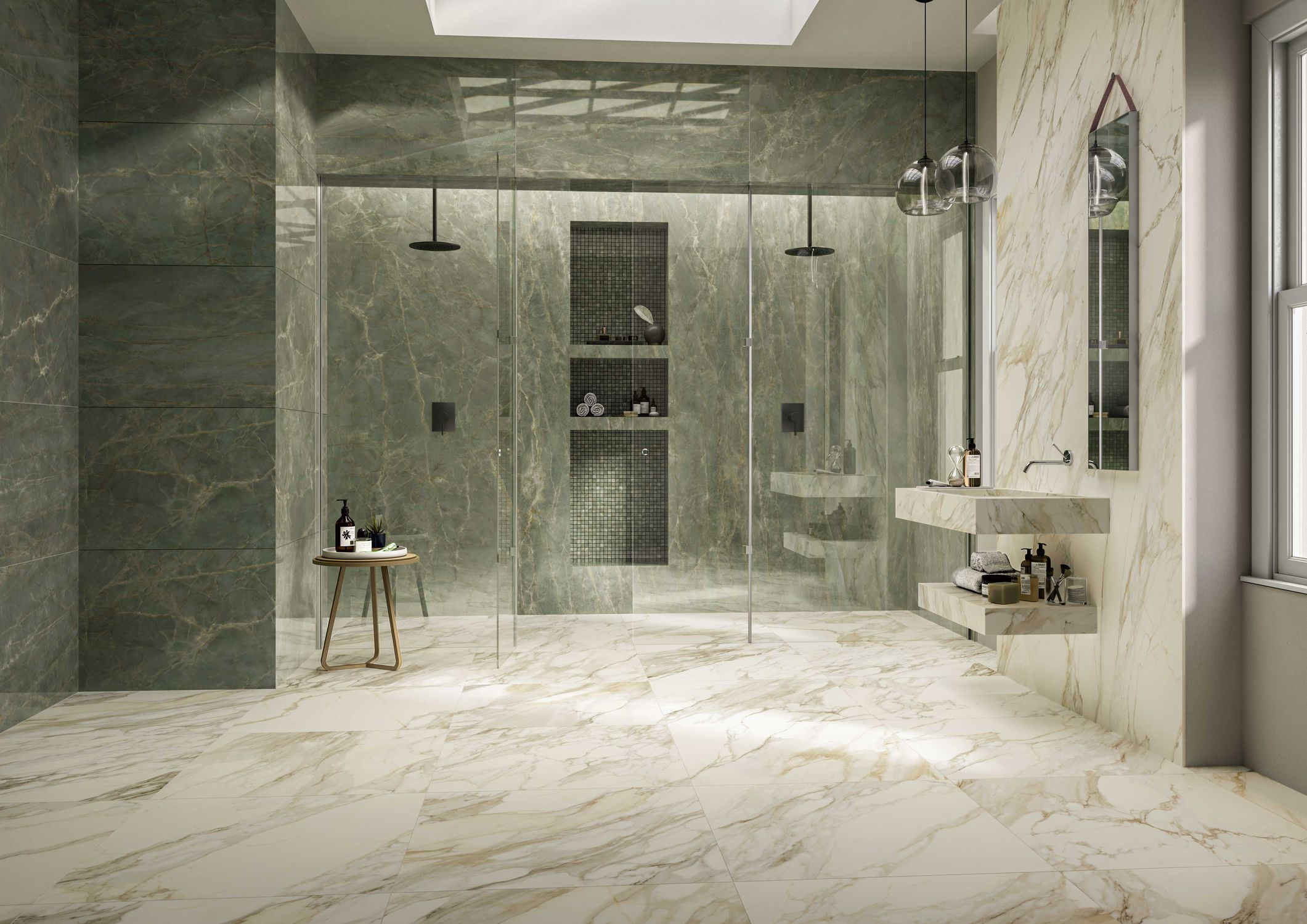 Indoor Tile Anima Ever Sage Green Ceramiche Caesar Wall Floor Porcelain Stoneware