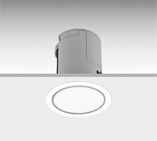 Recessed Emergency Light Round Led Ip20 Lens En