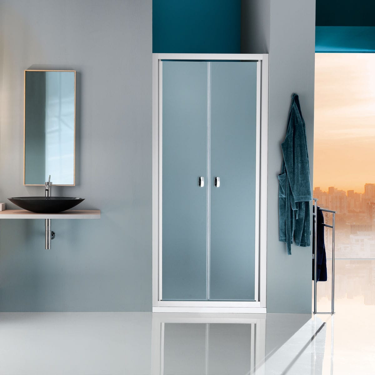 Swing Shower Screen For Alcoves Glass Europa B7830 Samo