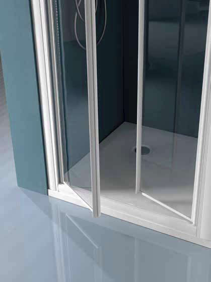 Box Doccia Samo Flex.Swing Shower Screen For Alcoves Glass America B6826