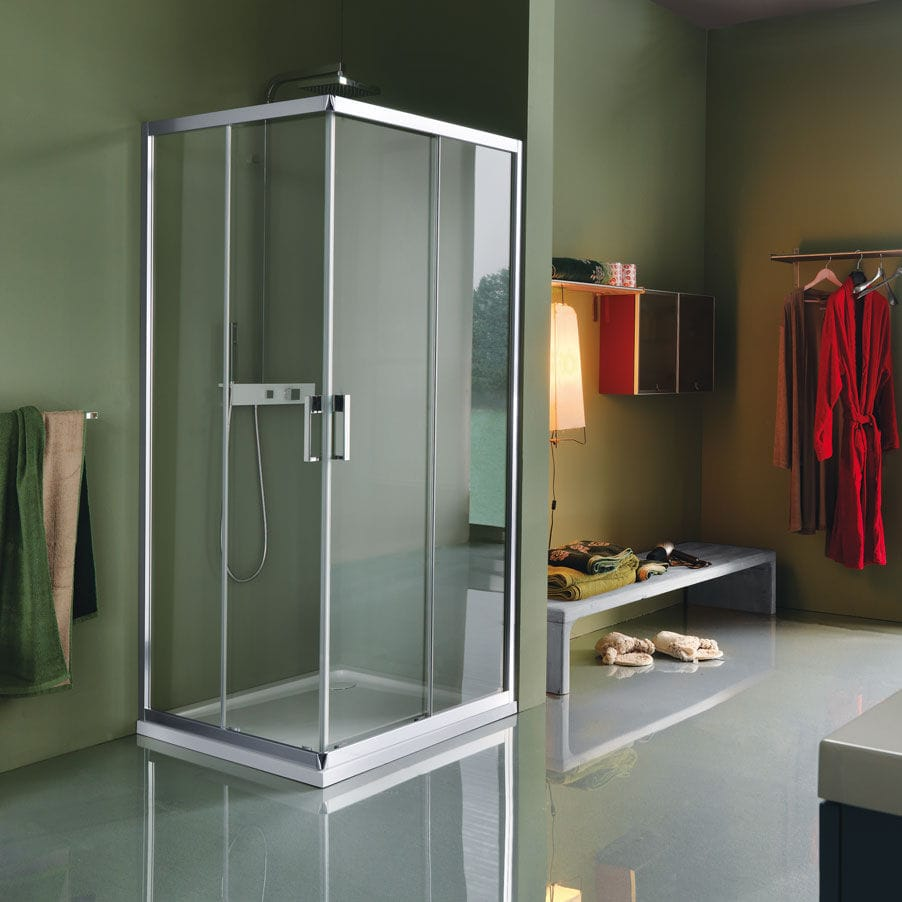 Samo Box Doccia New Cee.Sliding Shower Screen Corner Glass Cee Art B0916 Samo