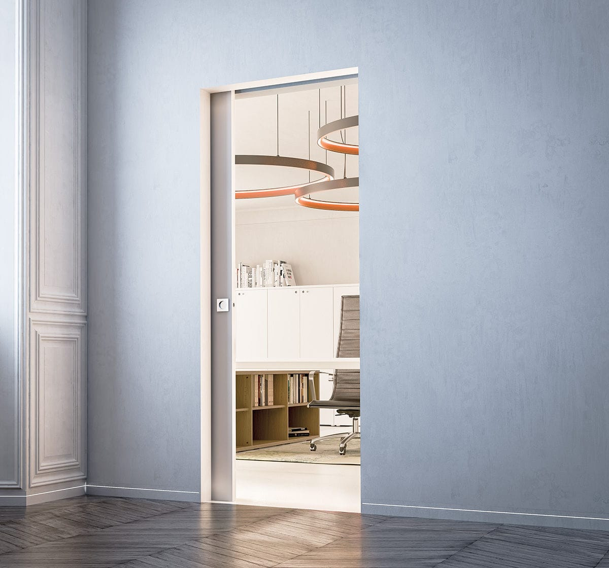Porte Eclisse Syntesis Line.Sliding Door Pocket System Eclisse Syntesis Line Eclisse