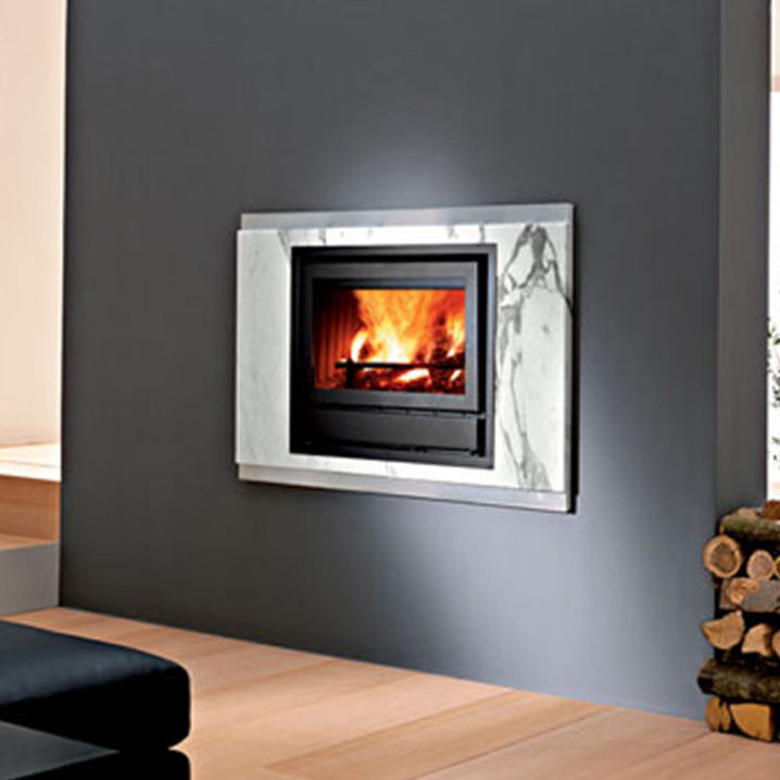 Contemporary Fireplace Surround Marble Stainless Steel Arabesque