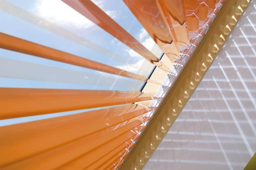 Venetian Blinds Canvas Electric For Roof Windows Ajp