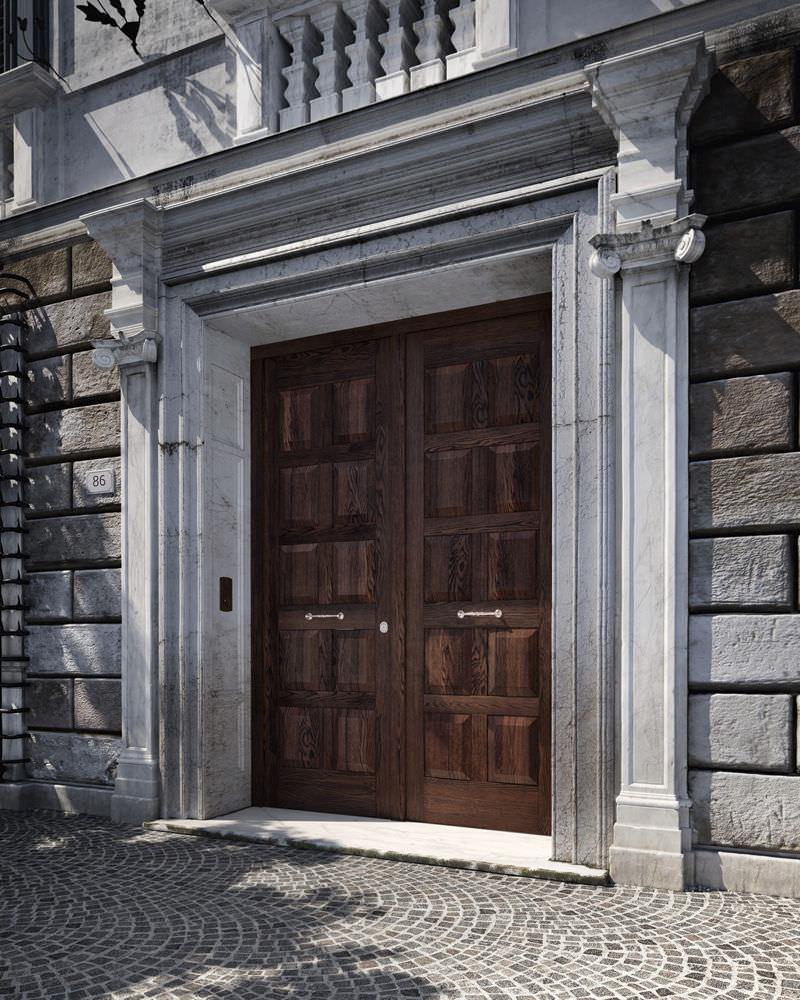 Entry door / swing / wooden / security - SOVRANA: porta a ...