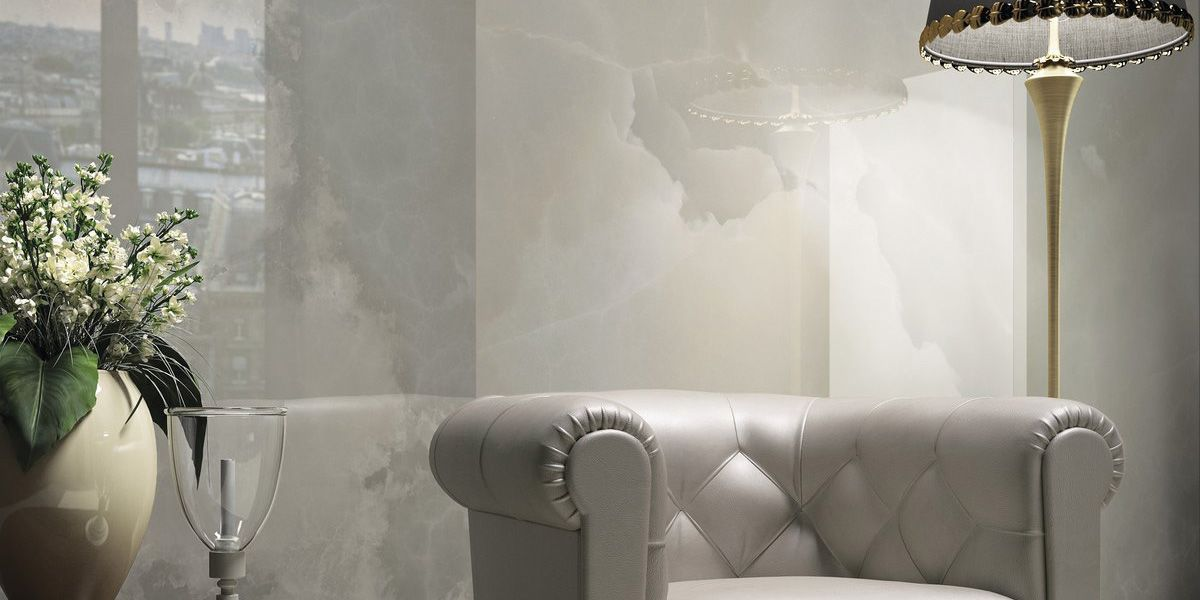 Large-format tile / indoor / wall / porcelain stoneware