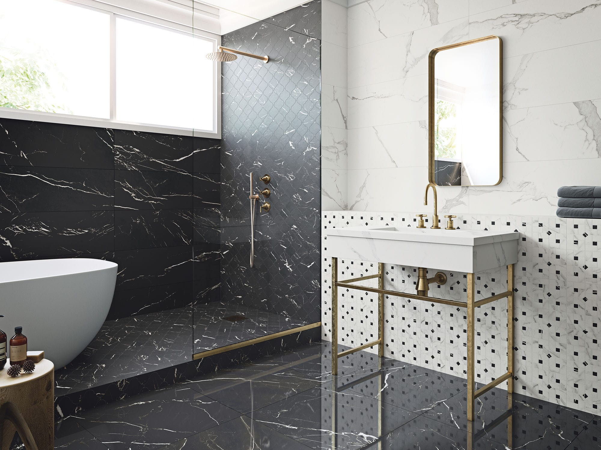 Indoor tile / wall / floor / porcelain stoneware - MARMOREA
