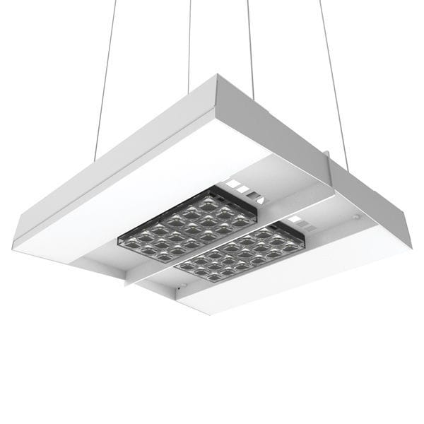 Hanging Light Fixture Led Square Steel Freedom Sled