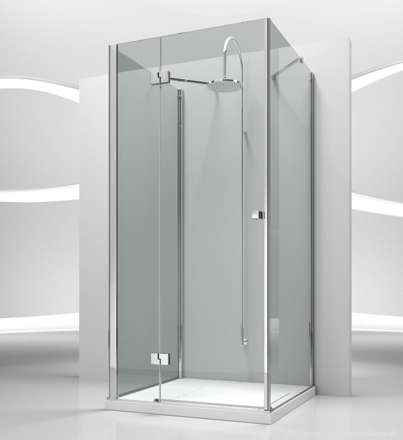 Glass Shower Cubicle Rectangular With Pivot Door