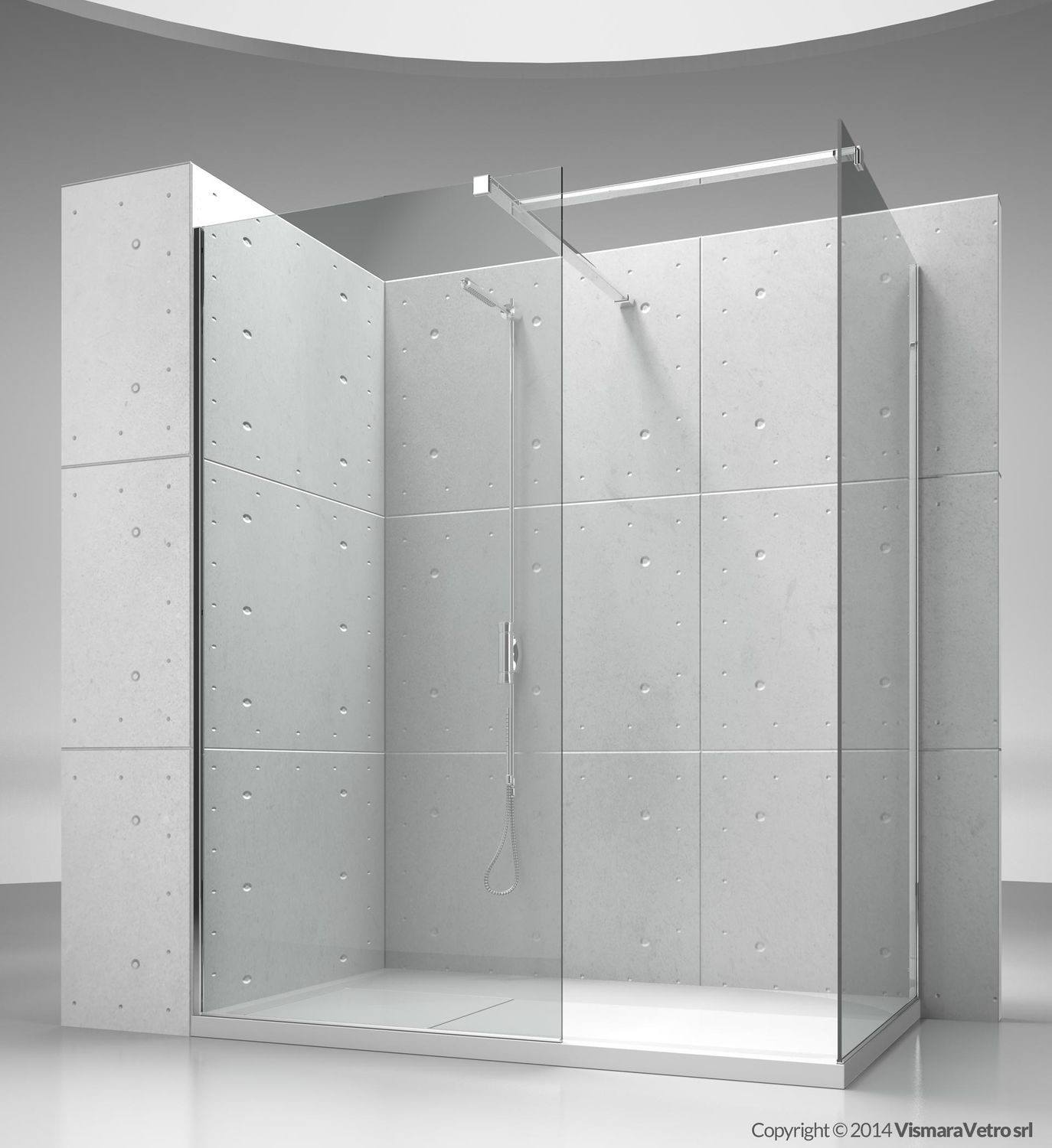 Fixed Shower Screen Corner Sk In