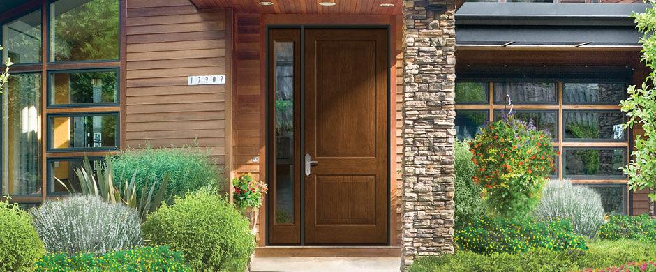 Entry Door Swing Fibergl Clic Craft Rustic Therma Tru Doors