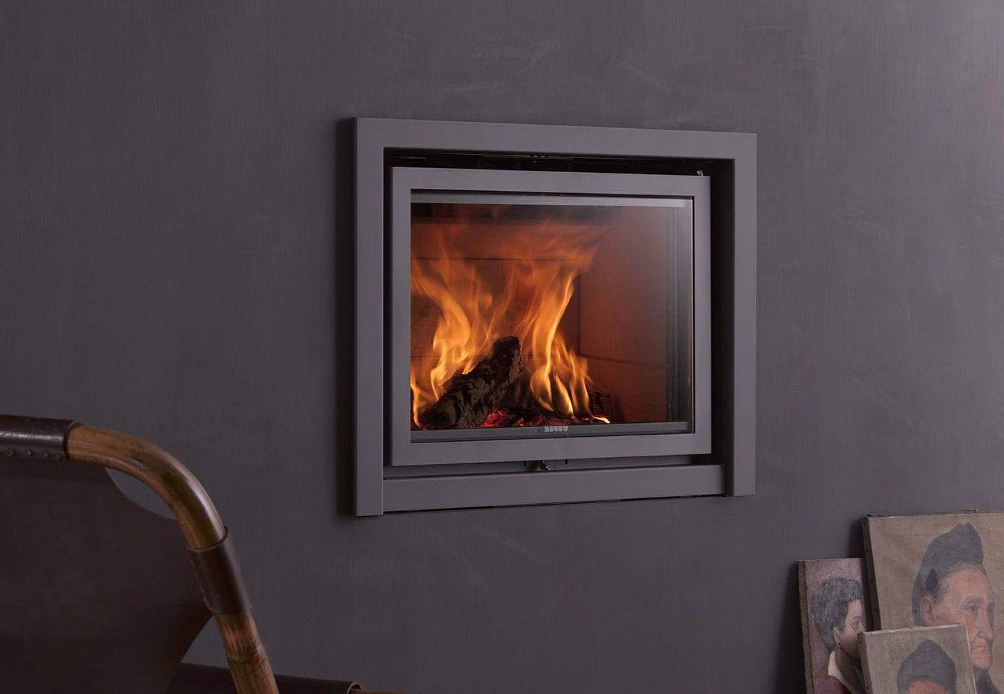 Wood Burning Fireplace Contemporary Closed Hearth Built In 16 In Stuv