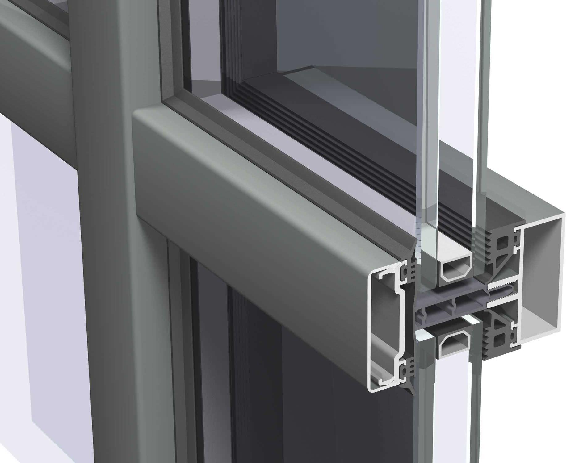 Facciata continua Spandrel - CW 50 - Reynaers Aluminium - alluminio e ...