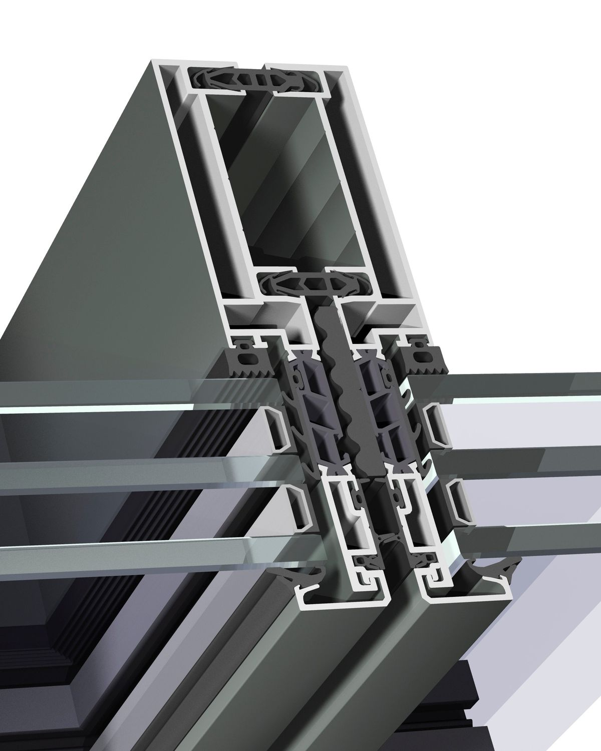 Unitized System Curtain Wall Cw 65 Ef Reynaers Aluminium Aluminum And Glass