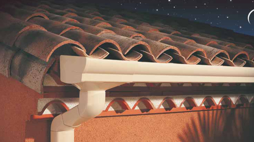 Pvc Roof Gutter Elite Nicoll Semicircular