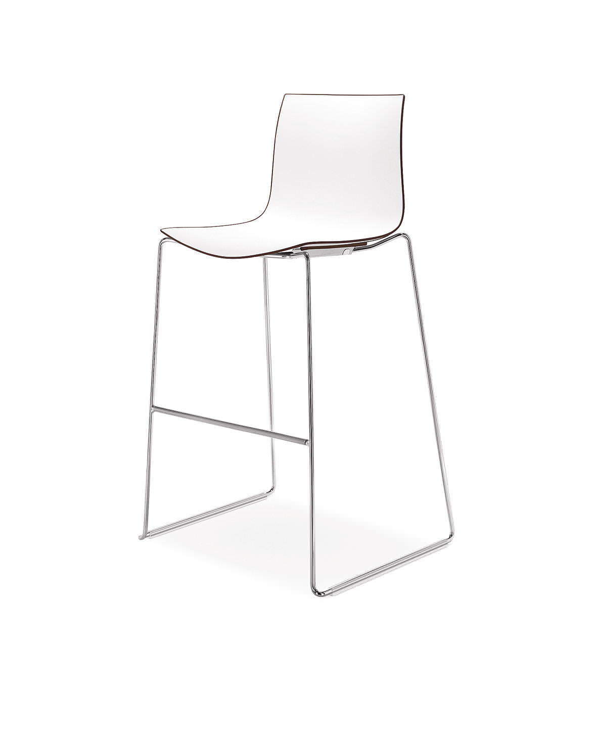 Pleasant Contemporary Bar Chair Upholstered Stackable Sled Base Caraccident5 Cool Chair Designs And Ideas Caraccident5Info