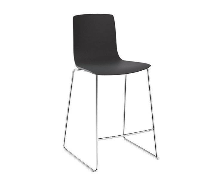 Brilliant Contemporary Bar Stool Plywood Leather Chrome Steel Gamerscity Chair Design For Home Gamerscityorg
