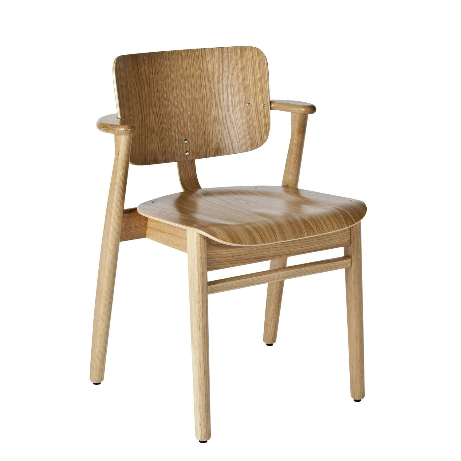 Scandinavian Design Chair Upholstered With Armrests