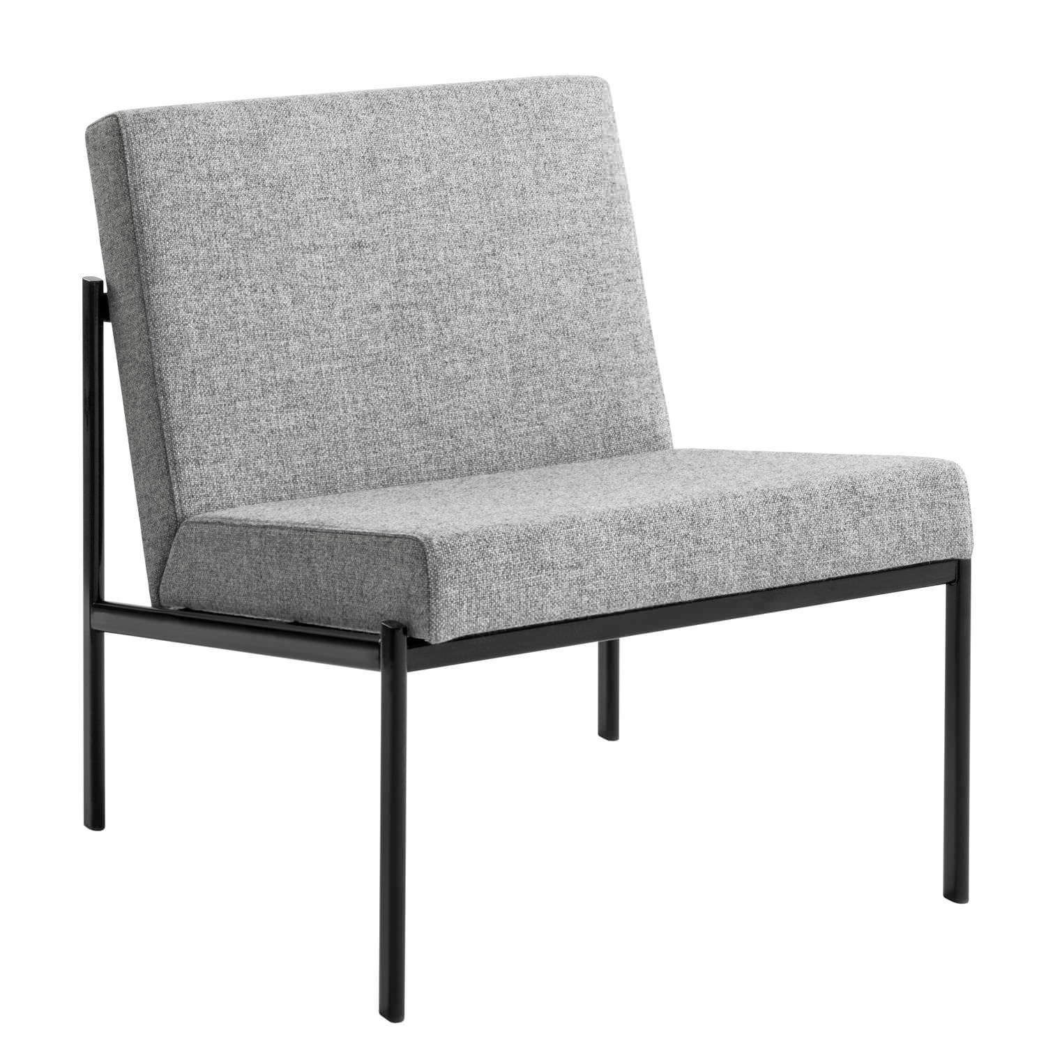 Contemporary Fireside Chair Fabric Leather Steel