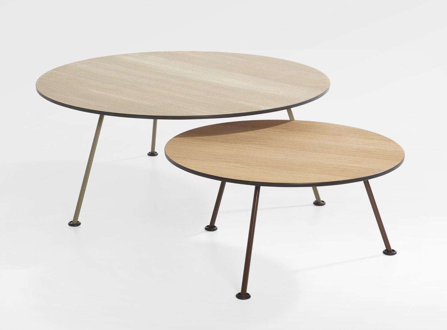 Prime Contemporary Coffee Table Oak Chromed Metal Round Inzonedesignstudio Interior Chair Design Inzonedesignstudiocom