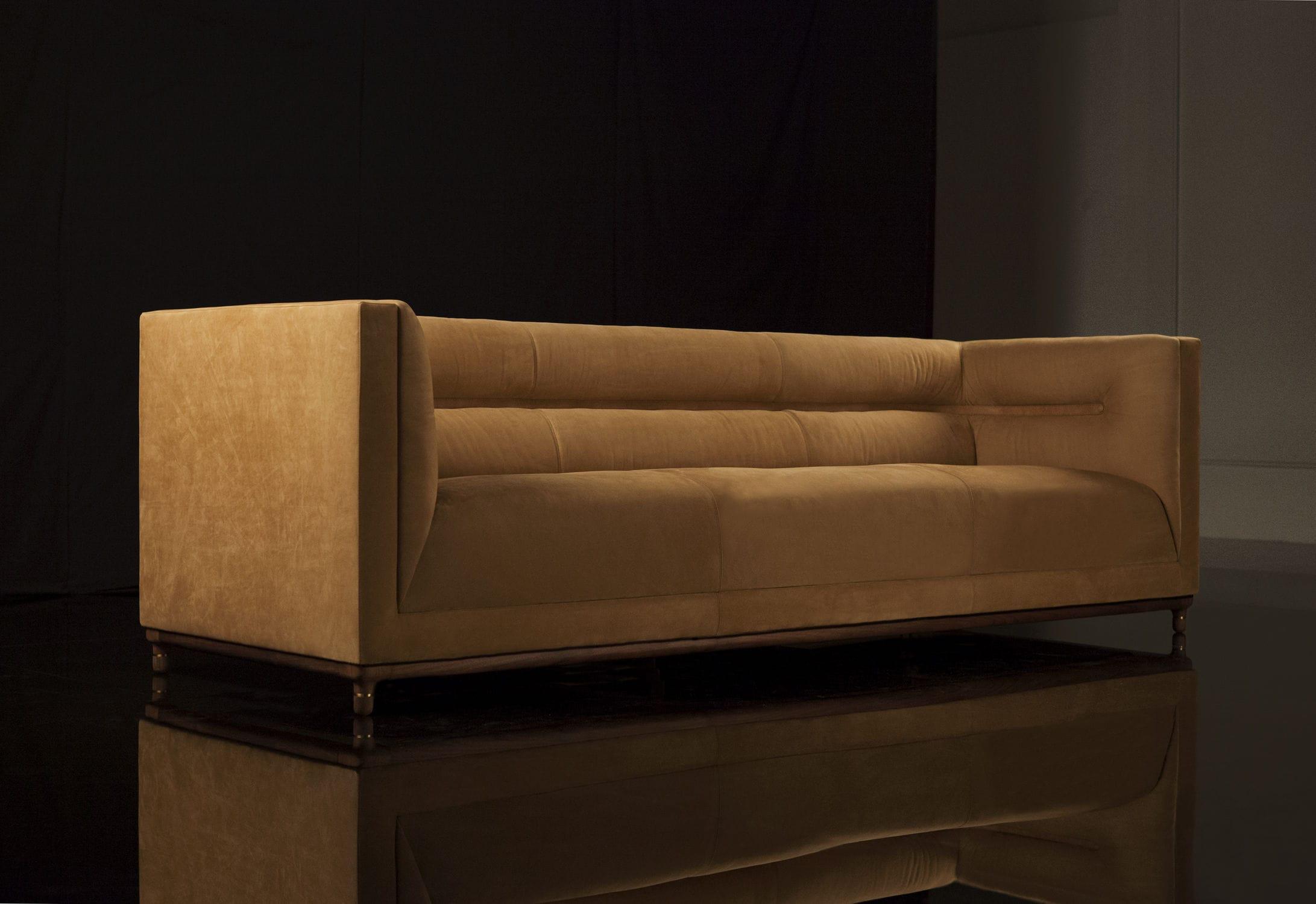 Contemporary sofa fabric 3 seater ALEX by Jephson Robb