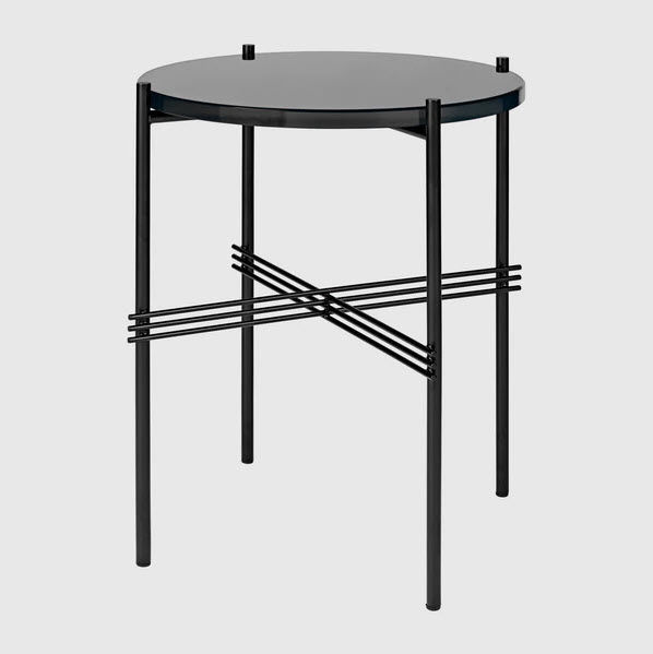 Contemporary Coffee Table Marble Metal Base Round Ts By