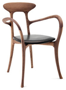 Roberto Lazzeroni Design.Organic Design Chair Upholstered With Armrests Oak